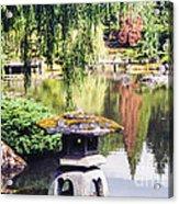 Seattle Tea Garden Reflections Acrylic Print