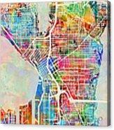 Seattle Washington Street Map Acrylic Print