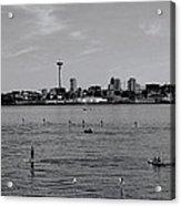 Seattle Waterfront Bw 2 Acrylic Print