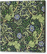 Seaweed Wallpaper Design Acrylic Print