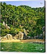 Secluded Beach Acrylic Print