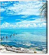 Secluded Beach On Caye Caulker Belize Acrylic Print