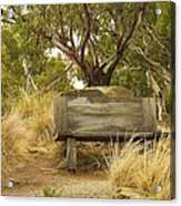 Secluded Bench Acrylic Print