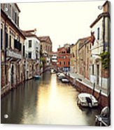 Secluded Canal In Venice Italy Acrylic Print