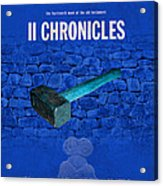 Second Chronicles Books Of The Bible Series Old Testament Minimal Poster Art Number 14 Acrylic Print