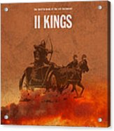 Second Kings Books Of The Bible Series Old Testament Minimal Poster Art Number 12 Acrylic Print
