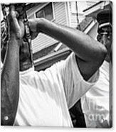 Second Line Black And White Acrylic Print