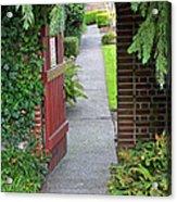 Secret Garden Door Acrylic Print