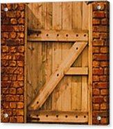 Secret Garden Gate Acrylic Print