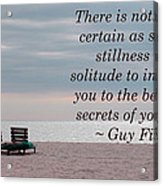 Secrets Of Yourself Acrylic Print by April Wietrecki Green
