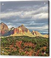 Sedona, Arizona And Red Rocks Panorama Acrylic Print