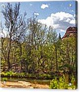 Sedona Arizona Cathedral Rock Panorama Acrylic Print