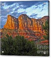 Sedona Arizona Sunset On Mountains Acrylic Print