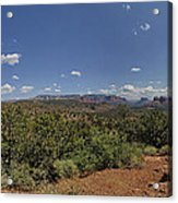 Sedona Panorama In 5 Pictures Acrylic Print
