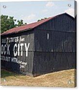 See Rock City Barn Acrylic Print