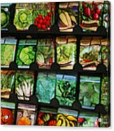 Seed Packets Acrylic Print