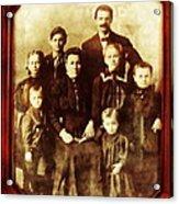 Seei Family Portrait Circa 1906 Acrylic Print