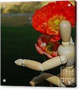 Seeking A Yellow Brick Road Poppy Number Three Horizontal Acrylic Print