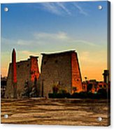 Seeking The Ancient Ruins Of Thebes In Luxor Acrylic Print by Mark E Tisdale