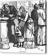Segregated Saloon, 1875 Acrylic Print
