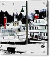Segwun And Wenonah Steamships In Winter Acrylic Print