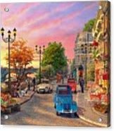 Seine Sunset Acrylic Print