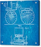Selden Road Engine Patent Art 1895 Blueprint Acrylic Print