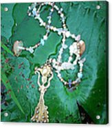 Self-esteem Necklace With Offerings Goddess Pendant Acrylic Print