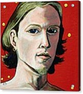 Self Portrait 1995 Acrylic Print by Feile Case