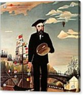 Self Portrait Acrylic Print by Henri Rousseau