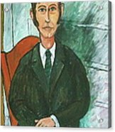 1st Self Portrait Age 33 Acrylic Print