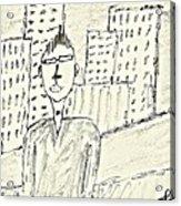 Self-portrait In Ny Acrylic Print
