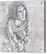 Self Portrait Of Natalie Trujillo Acrylic Print