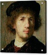 Self Portrait Acrylic Print by Rembrandt Harmenszoon van Rijn