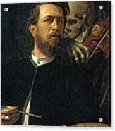 Self Portrait With Death Acrylic Print