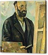 Self Portrait With Palette Acrylic Print