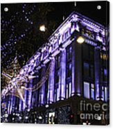 Selfridges London At Christmas Time Acrylic Print