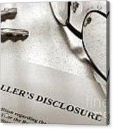 Seller Property Disclosure Acrylic Print