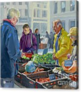 Selling Vegetables At The Market Acrylic Print