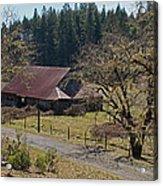 Selma Barn And Country Road Acrylic Print