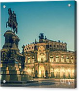 Semperoper Dresden Theaterplatz Acrylic Print