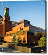 Senate Tower And Lenin's Mausoleum - Square Acrylic Print