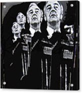 Senator Eugene Mccarthy  Collage Democratic Nat'l Convention Miami Beach Florida 1972-2012  Acrylic Print