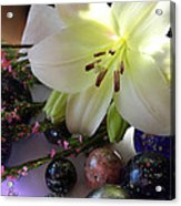 Send The Light Lily With Marbles Acrylic Print