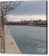 Seneca Falls Marina Acrylic Print