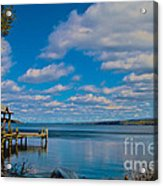 Seneca Lake At Glenora Point Acrylic Print