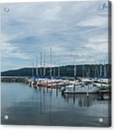 Seneca Lake Harbor - Watkins Glen - Wide Angle Acrylic Print