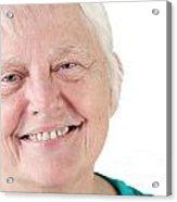 Senior Woman Portrait Smiling Acrylic Print