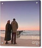 Seniors' Love And Ocean Acrylic Print