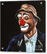 Senor Billy The Hobo Clown Acrylic Print